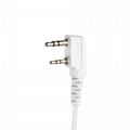 2 Pin Covert Air Acoustic Tube Headset Earpiece Earbud With PTT MIC 3