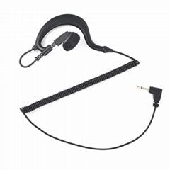 2.5mm RECEIVER/Listen Only Earphone G Shape Soft Flexible Earpiece
