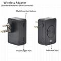 2Pin wireless Bluetooth Earpiece with PTT Mic TC-BL04WM 3