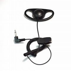 Listen Receive D Shape 3.5mm Jack Earhook Listen Only Earphone Earpiece Headset