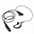 HYS Handheld Ham Radio Earpiece earphone headset with PTT Mic 1