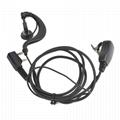 Ham Radio Earphone Headset PTT Mic