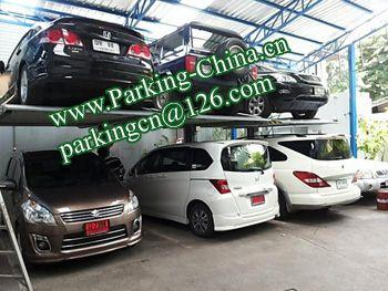 Car Parking Lift 2 post elevator family double garage parking at basement 1