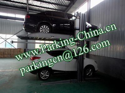 Car Parking Lift 2 post elevator family double garage parking at basement 4