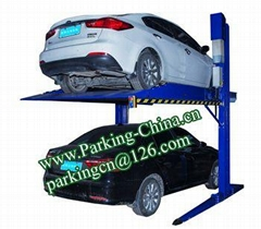 China Car Parking Lift 2 post elevator family double garage parking at basement