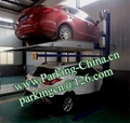China Car Parking Lift 2 post elevator family double garage parking at basement 2