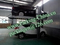 China Car Parking Lift 2 post elevator family double garage parking at basement 3