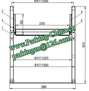 China Car Parking Lift 2 post elevator family double garage parking at basement 5