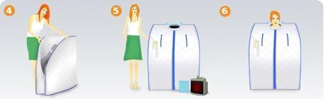 Portable Infrared  sauna HC-329 3