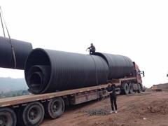 四川大口徑HDPE鋼塑復合纏繞管
