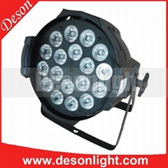 18 x 15Watts 5Color RGBWA in 1 LEDs stage par can light rgbwa uv led par