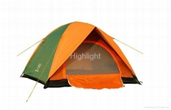 Outdoor 3~4 person double layer waterproof camping tent