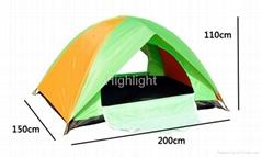 2 person fiberglass waterproof camping tent