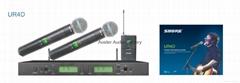 SHURE Wireless microphone UR4D/IR Transmitter