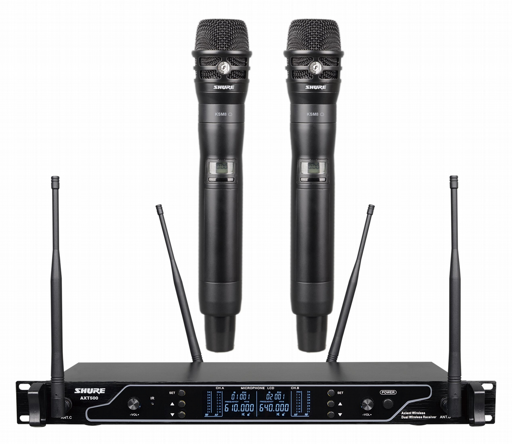 SHURE AXT500 Dual Wireless Microphone(650-699mhz) 1