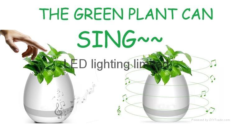 Bluetooth Magic Smart Touching music flowerpot led light music flower pot vase 2