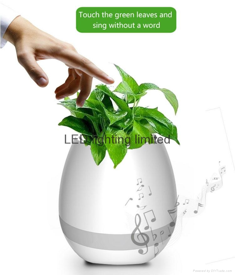 Bluetooth Magic Smart Touching music flowerpot led light music flower pot vase 3