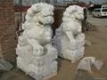 汉白玉石狮子 4