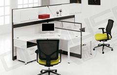 屏風卡位 辦公桌 屏風組合 廣州辦公傢具60B+D30