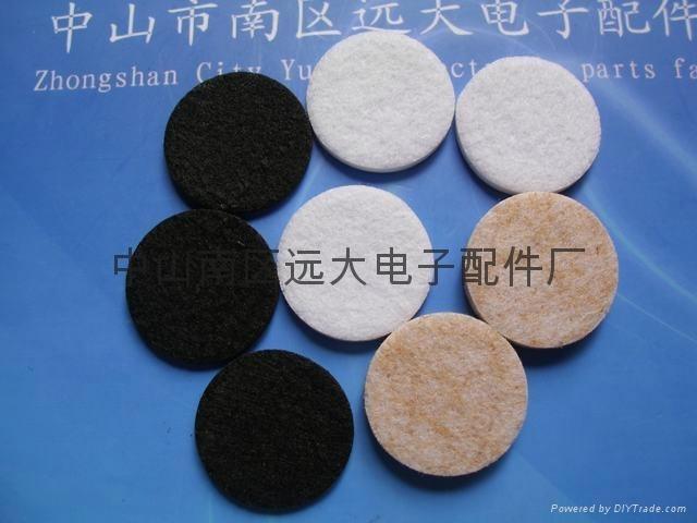 黑色/白色/咖啡色傢具毛氈腳墊