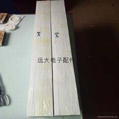 亞克力展示櫃白色硅膠密封條T1.5