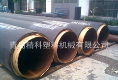 3 PE big straight buried insulating pipe production line