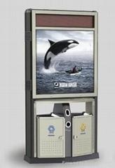Public Advertising Litter Bins