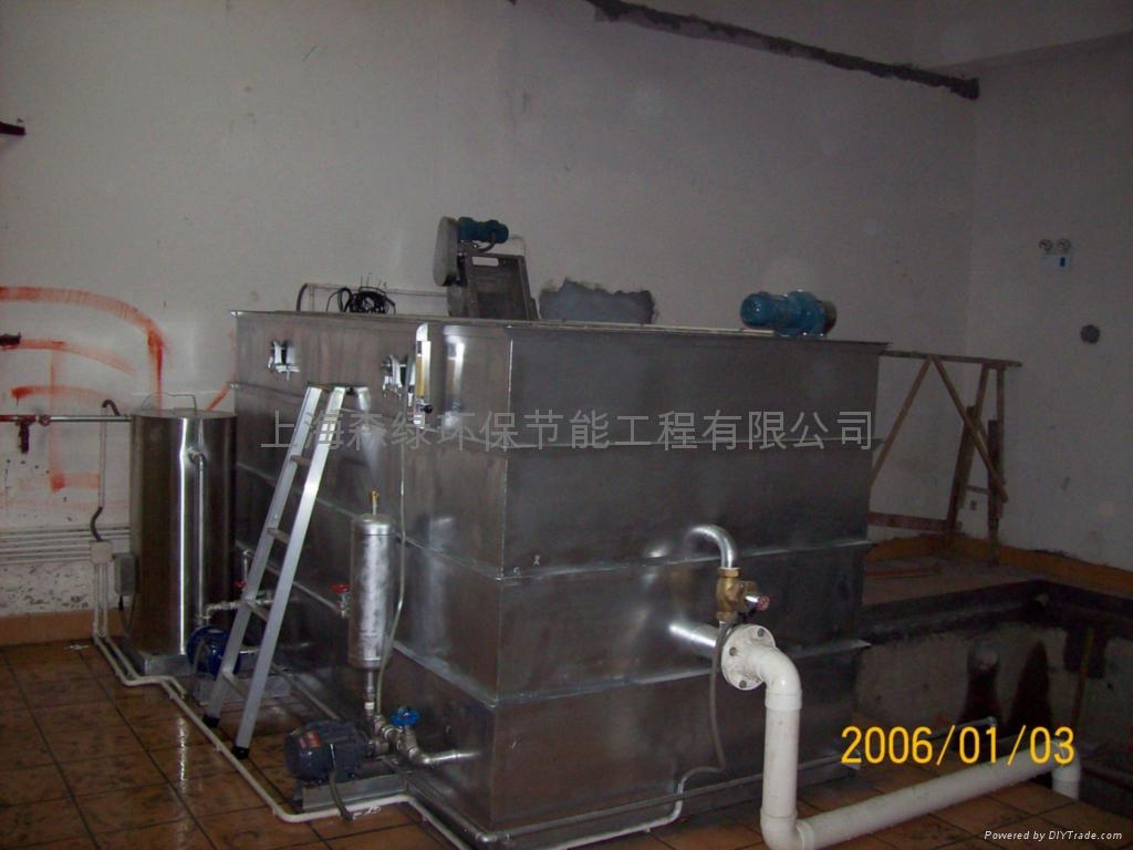 宁波奇美电子物流餐厅餐饮废水处理设备