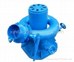 Coil pipe four nozzle incline jet pelton small water turbine generator(5KW—15KW)