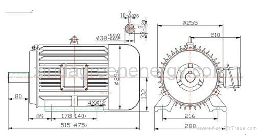 5.5kw-11kw 1500rpm diesel Permanent Magnet Generator 1
