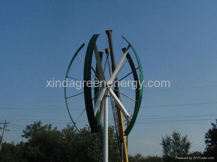 10KW Vertical Axis Wind Permanent Magnet Turbine / Generator-Maglev 2