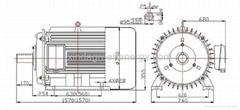22kw 60rpm vertical permanent magnet wind power generator