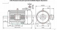 permanent magnet hydro power generator 60hz (2.5kw-24kw)