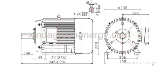 permanent magnet hydro generator 50hz  15kw 20kw 30kw 60kw 105kw 140kw   china trading company
