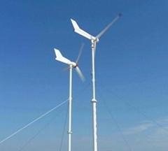3kw horizontal wind turbine system with brake system