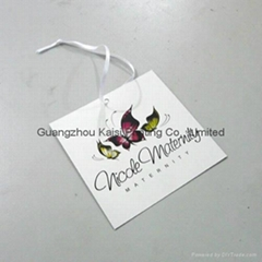 Clothing hang tags with strings attached customized printed