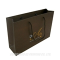 Custom Luxury paper bags for gift packaging with cotton handles foil stamping