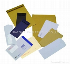 Custom envelopes printed with window paper/kraft material