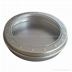 small tin box with clear window /  Wholesale small tin box with pvc clear window