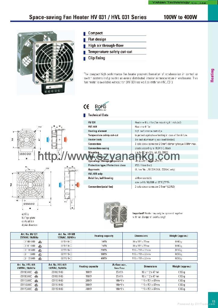 电柜风扇加热器 1