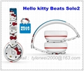 Hello Kitty Beats Solo2 headphones New arrival in 2015 beats by dr dre solo2
