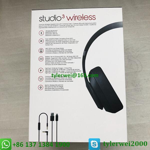 Beats Studio3 Wireless Headphones Matte Black beats by dr dre studio 3 12