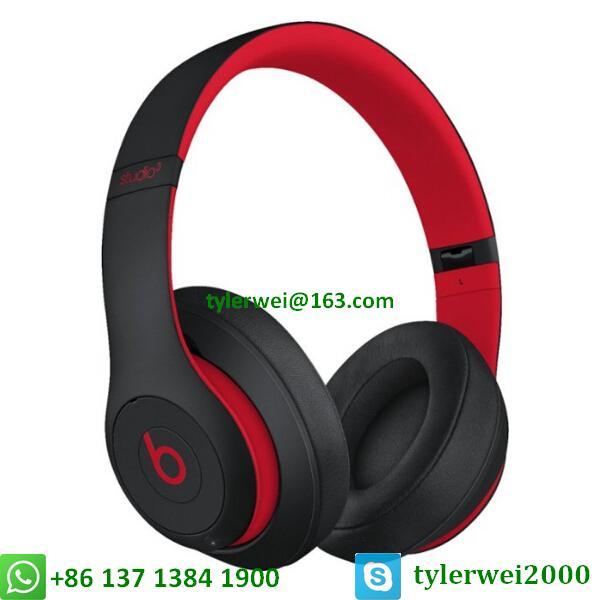 Beats Studio3 Wireless Headphones Noise Canceling Defiant Black-Red  studio 3 1