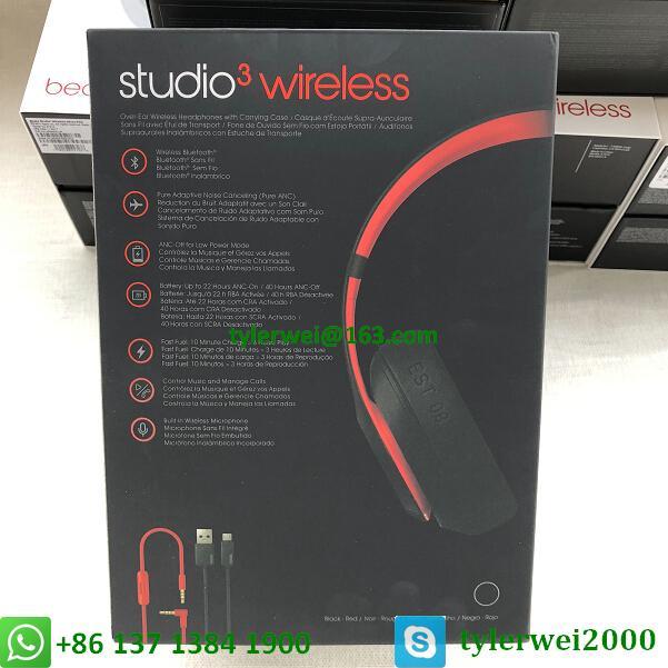 Beats Studio3 Wireless Headphones Noise Canceling Defiant Black-Red  studio 3 14