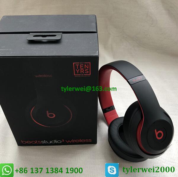 Beats Studio3 Wireless Headphones Noise Canceling Defiant Black-Red  studio 3 16
