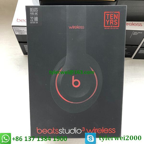 Beats Studio3 Wireless Headphones Noise Canceling Defiant Black-Red  studio 3 12