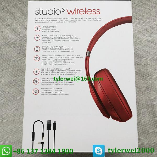 Beats by Dr. Dre Studio3  Wireless Headphones Noise Canceling - Red studio 3 14