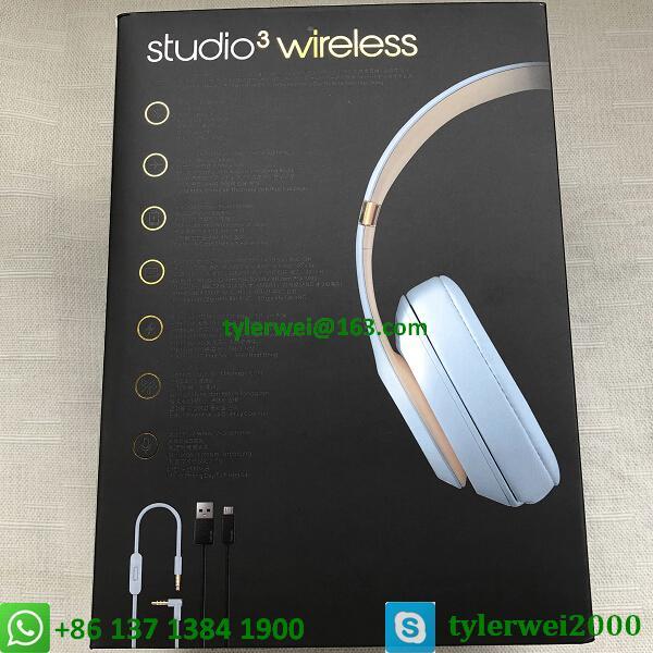 Beats Studio3 Wireless Over-Ear Headphones Noise Canceling Crystal blue studio 3 16