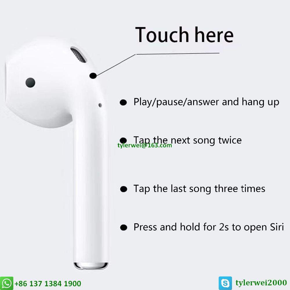 Airpods wireless with W1 chip in-ear earphone apple airpods AAAAA QUALITY 20