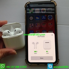 Wholesale apple airbud with H1 best quality airpods2 wireless earphone